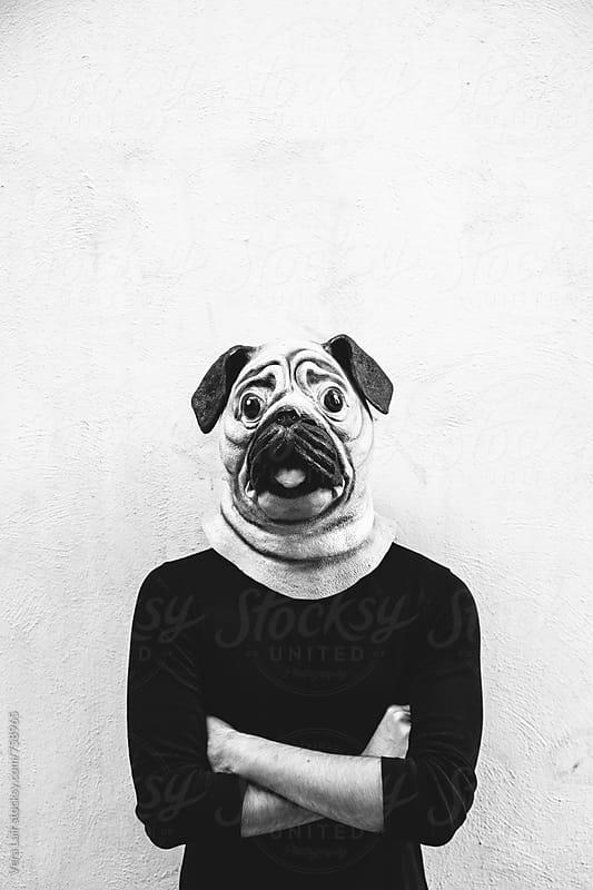 Man with a dog mask by Vera Lair for Stocksy United