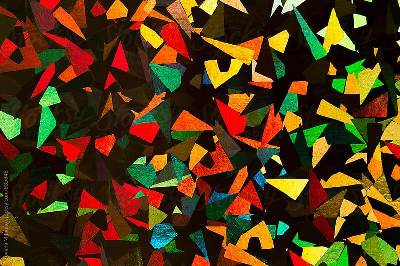 Macro of shiny decorative paper  by Jovana Milanko for Stocksy United