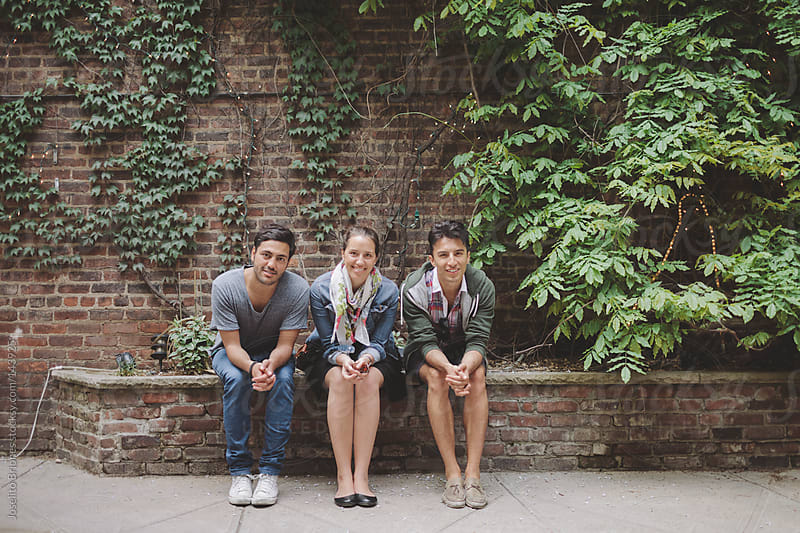 Friends Hanging Out in New York's Lower East Side by Joselito Briones for Stocksy United