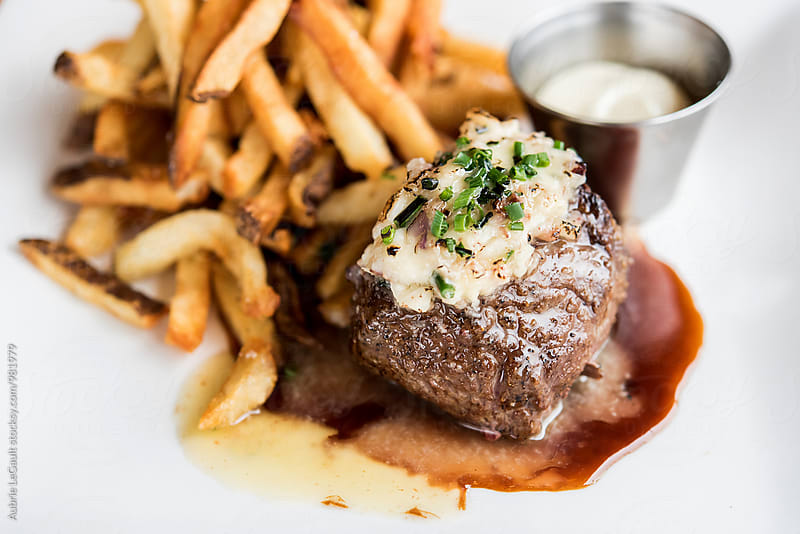 Steak and Fries by Aubrie LeGault for Stocksy United