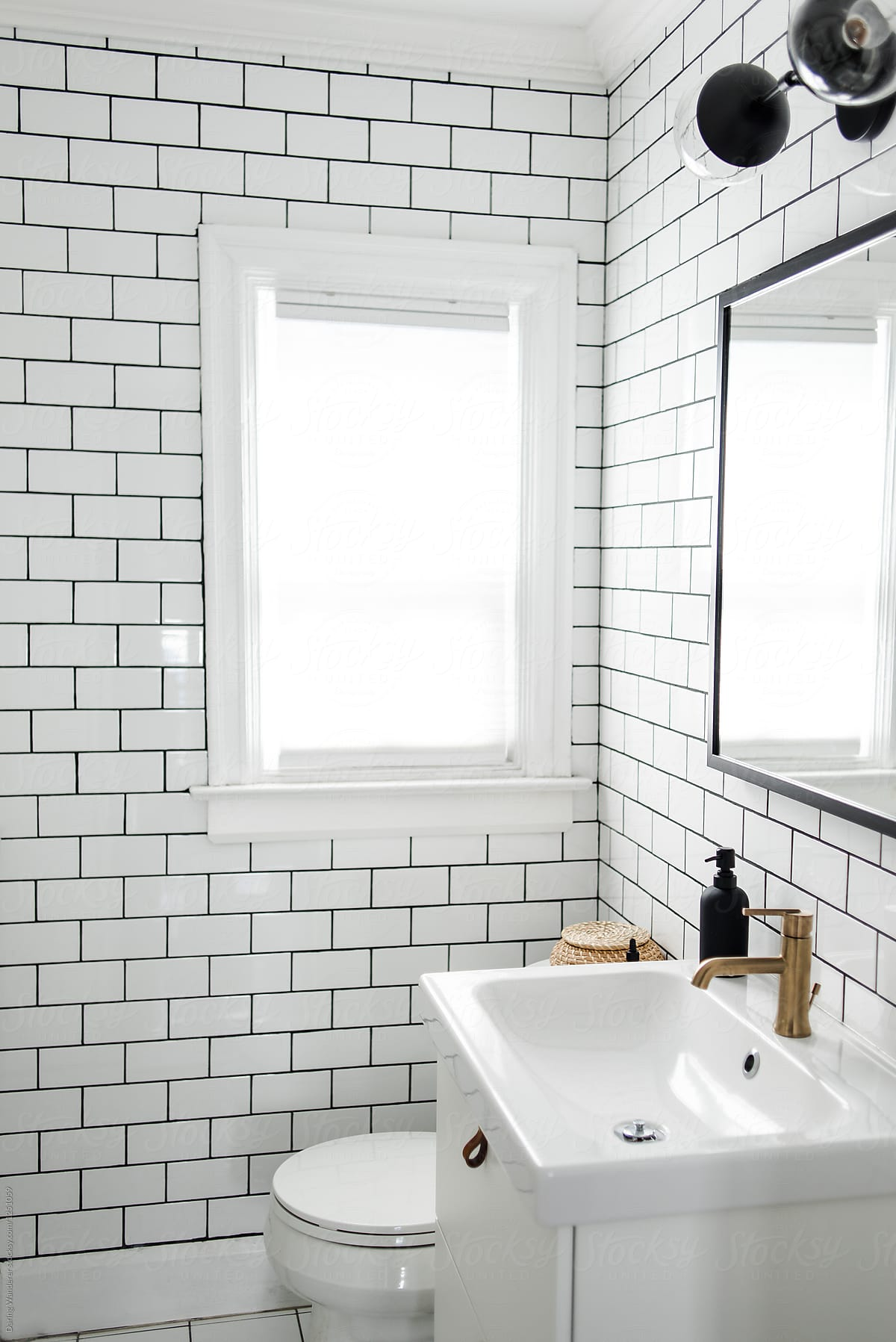 Minimalist Small Bathroom Renovation With White Subway Tile And IKEA ...