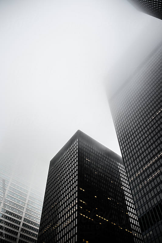 Toronto Skyscrapers In The Fog by Cameron Whitman for Stocksy United