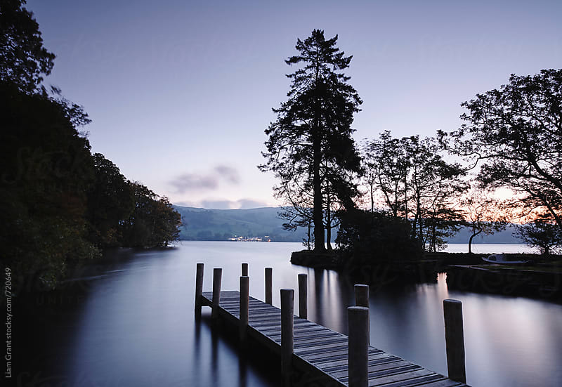 Jetty at Low Wray on Lake Windermere. Cumbria, UK. by Liam Grant for Stocksy United