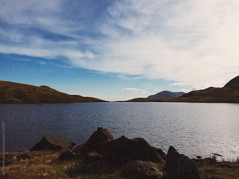 Stickle Tarn in the English Lake District by Neil Warburton for Stocksy United