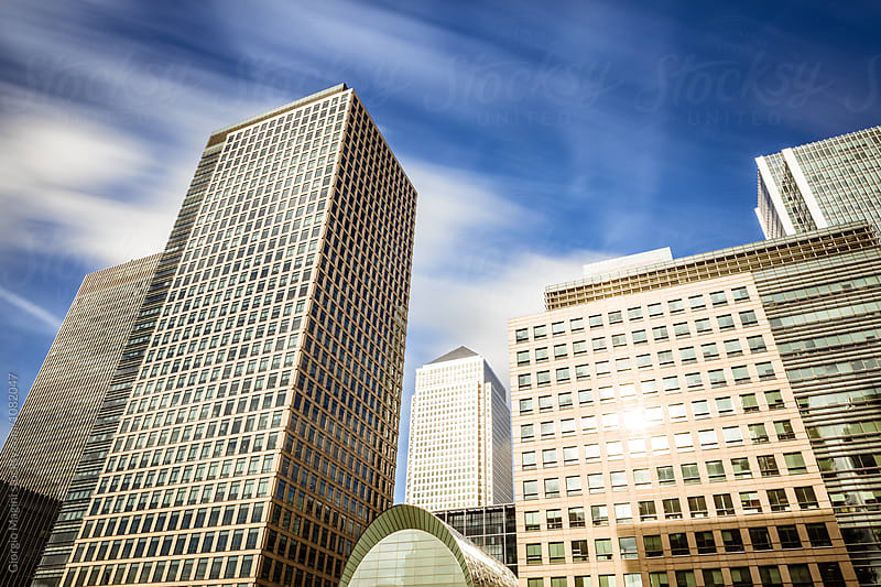 Financial District in London, Long Exposure at Daylight by Giorgio Magini for Stocksy United