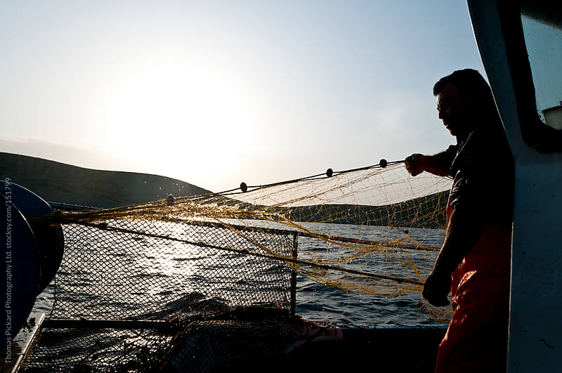 Commercial fisherman, Fourni Islands, Aegean Sea, Greece. by Thomas Pickard for Stocksy United