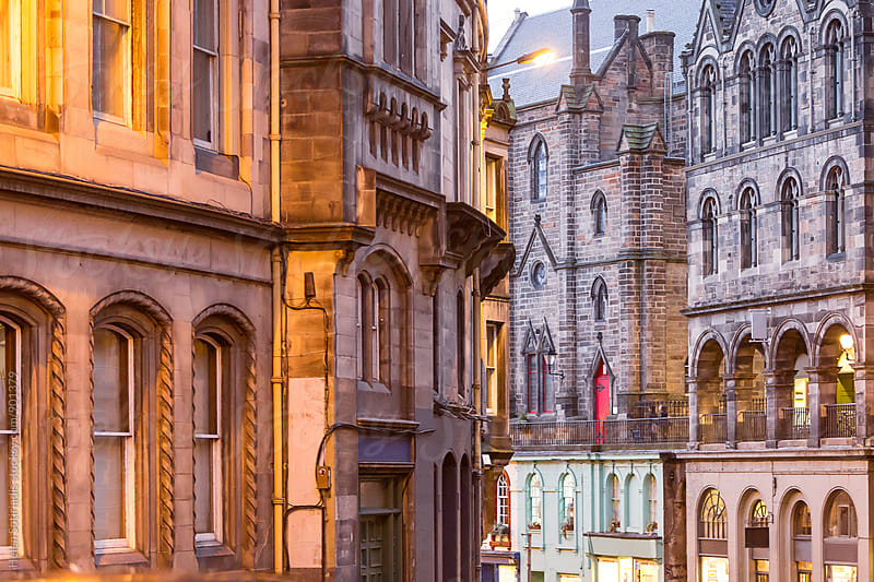Architecture in Edinburgh in the Evening by Helen Sotiriadis for Stocksy United