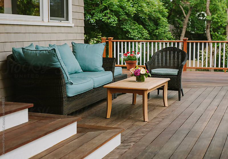 Porch Patio at New England Home by Raymond Forbes LLC for Stocksy United
