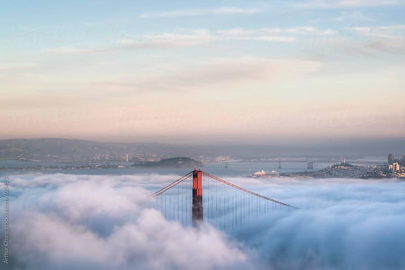Golden Gate in Fog by Arthur Chang for Stocksy United