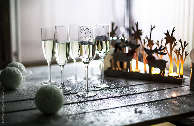 Champagne at Christmas by Lumina for Stocksy United