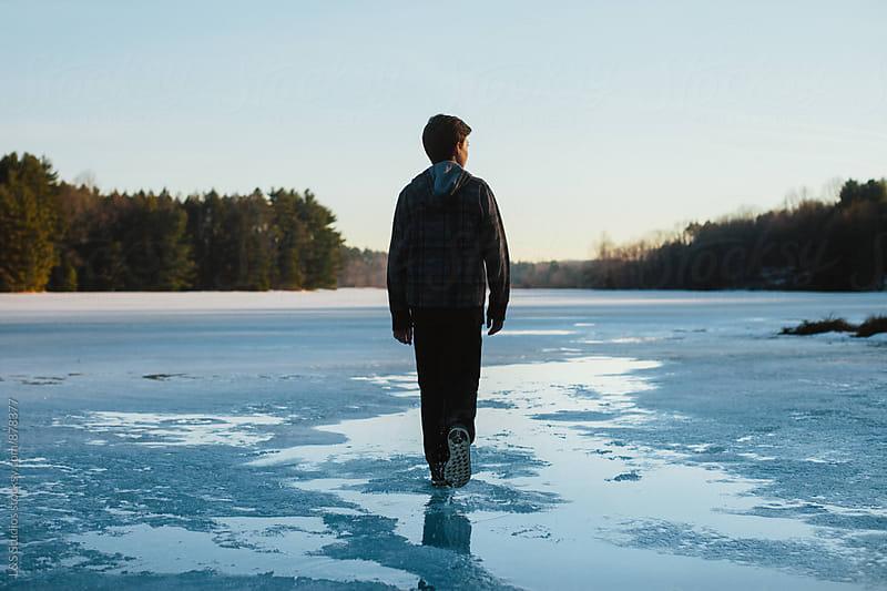 Frozen Reservoir by L&S Studios for Stocksy United