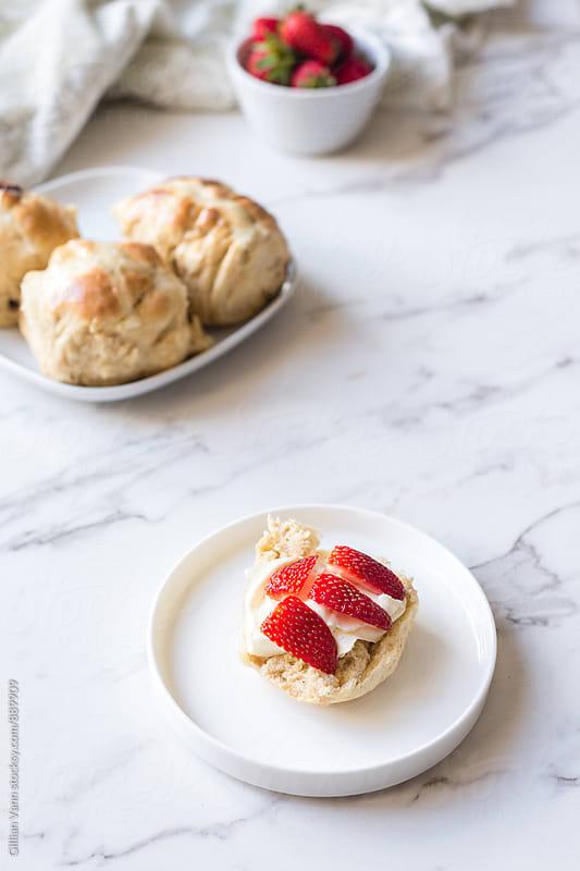 hot cross buns for Easter by Gillian Vann for Stocksy United