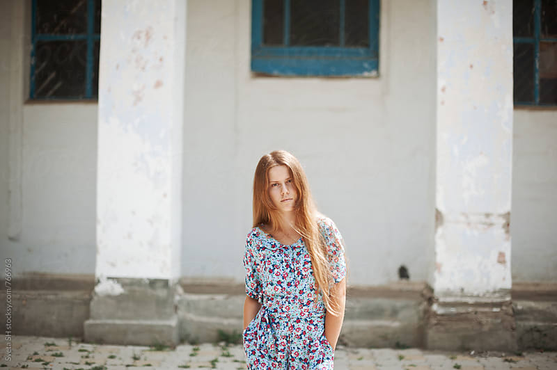 Girl in colored overalls by Sveta SH for Stocksy United