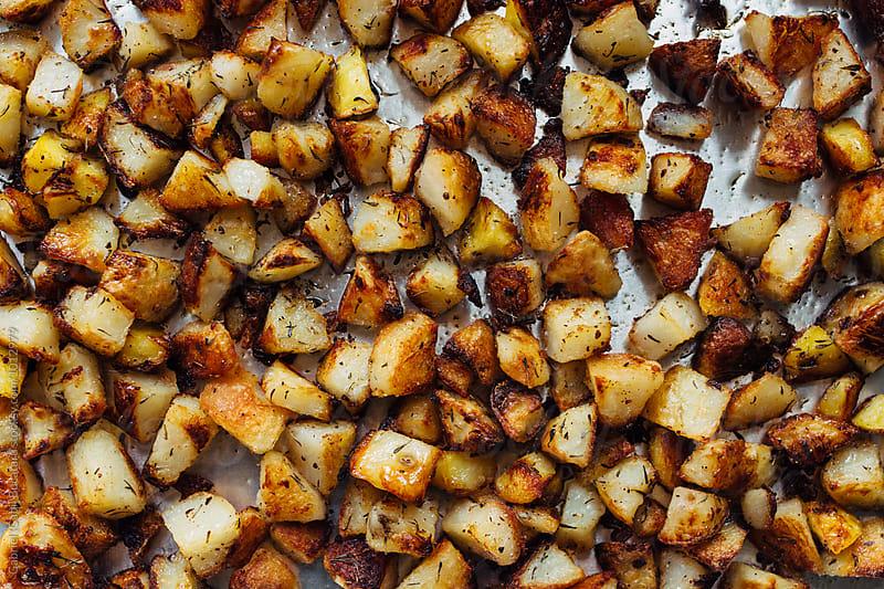 Fried potatoes from above by Gabriel (Gabi) Bucataru for Stocksy United