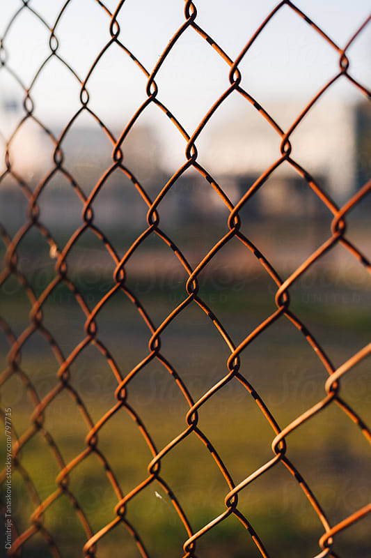 Old wired fence background by Dimitrije Tanaskovic for Stocksy United