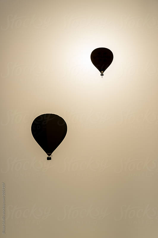 Hot air balloons  by Bisual Studio for Stocksy United