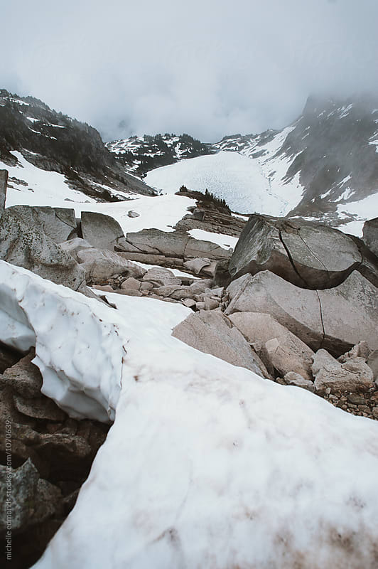 Snowy Mountain Hike in Washington by michelle edmonds for Stocksy United