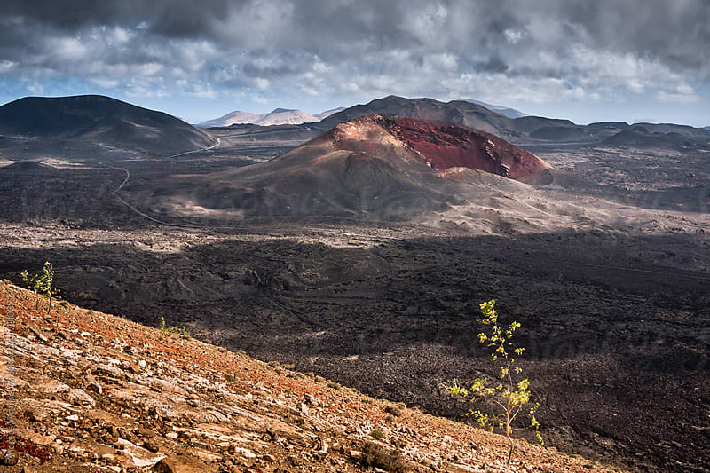 Volcano Landscape in Lanzarote's Timanfaya National Park by Andreas Wonisch for Stocksy United