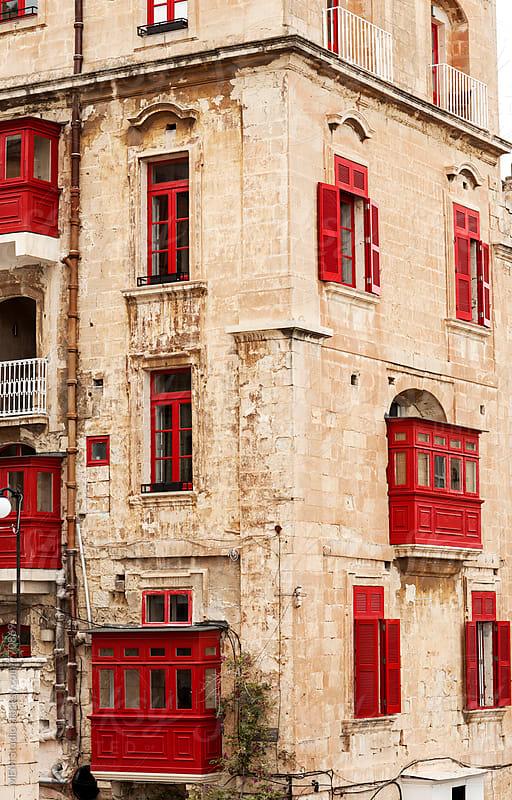 Ttraditional facade in Valletta, Malta by MEM Studio for Stocksy United