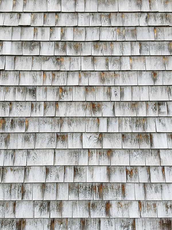 Weathered Wood Shingles Background by Julien L. Balmer for Stocksy United