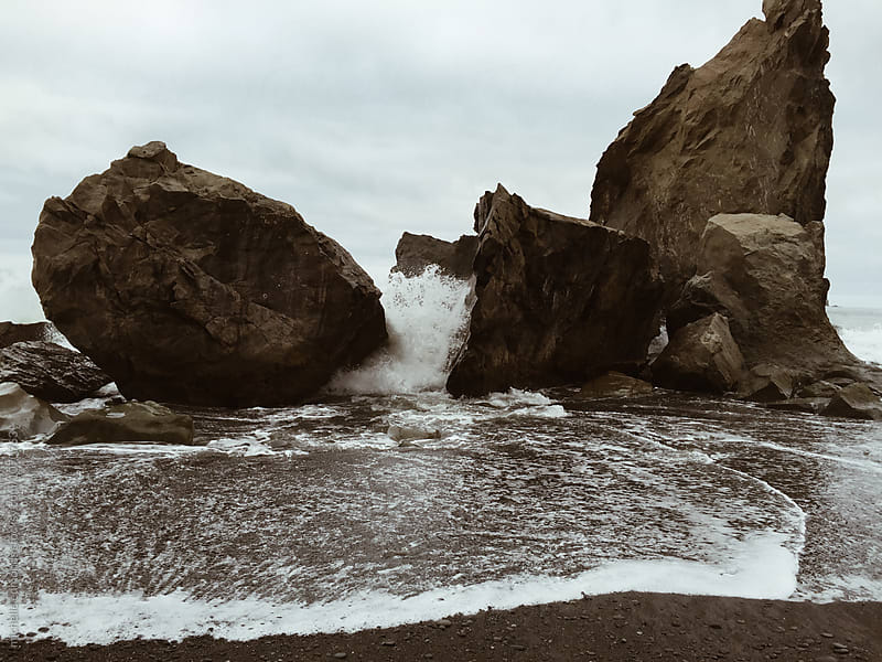 Sea Stacks in the Pacific Ocean, Washington by michelle edmonds for Stocksy United