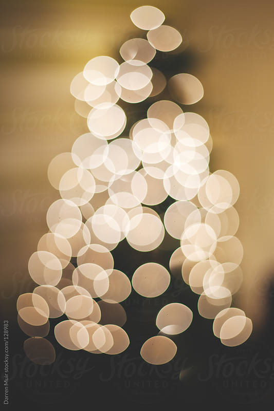 Out of focus Christmas tree lights. by Darren Muir for Stocksy United
