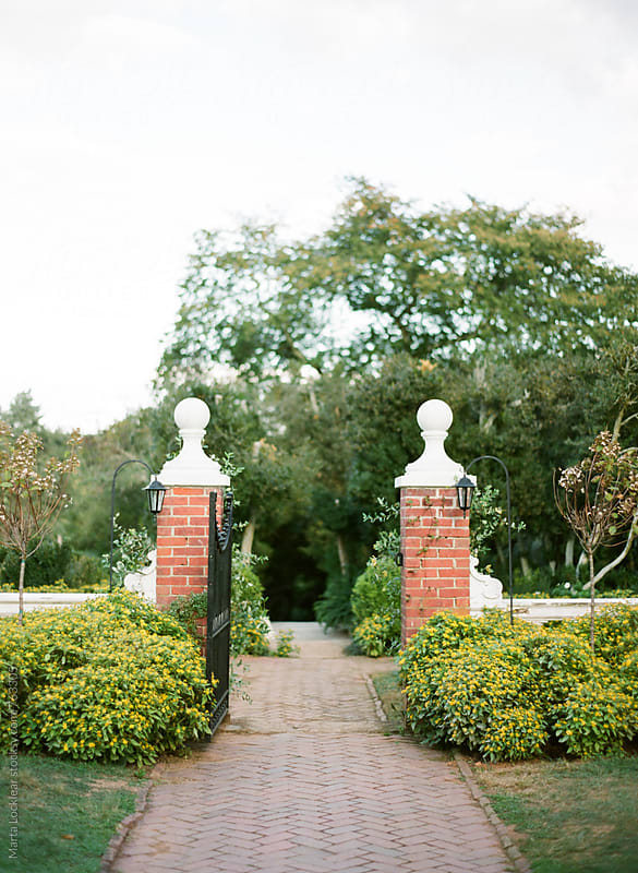Formal garden path by Marta Locklear for Stocksy United