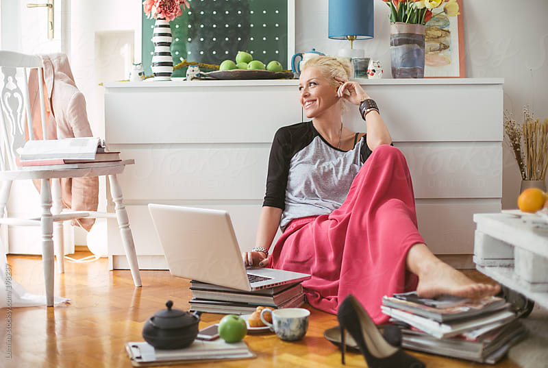 Fashion Blogger Writing by Lumina for Stocksy United