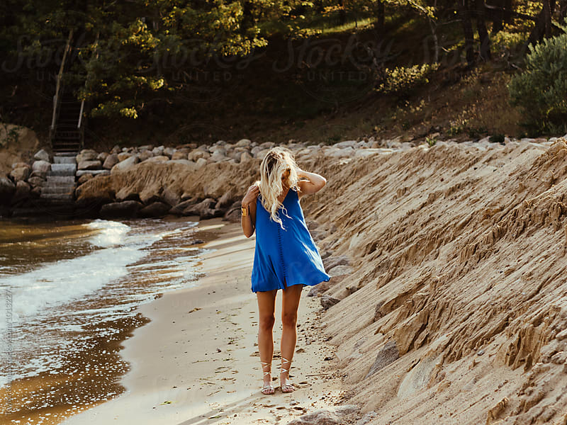 Blue Dress by Taylor Kampa for Stocksy United