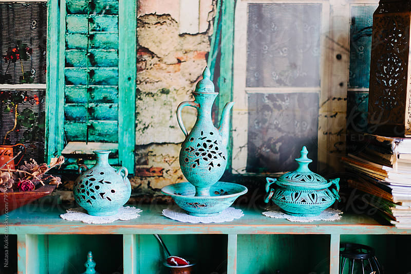 Antique details from a tea house by Natasa Kukic for Stocksy United