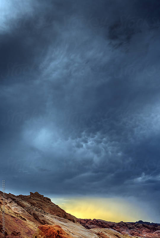 Stormclouds in Nevada by ALAN SHAPIRO for Stocksy United