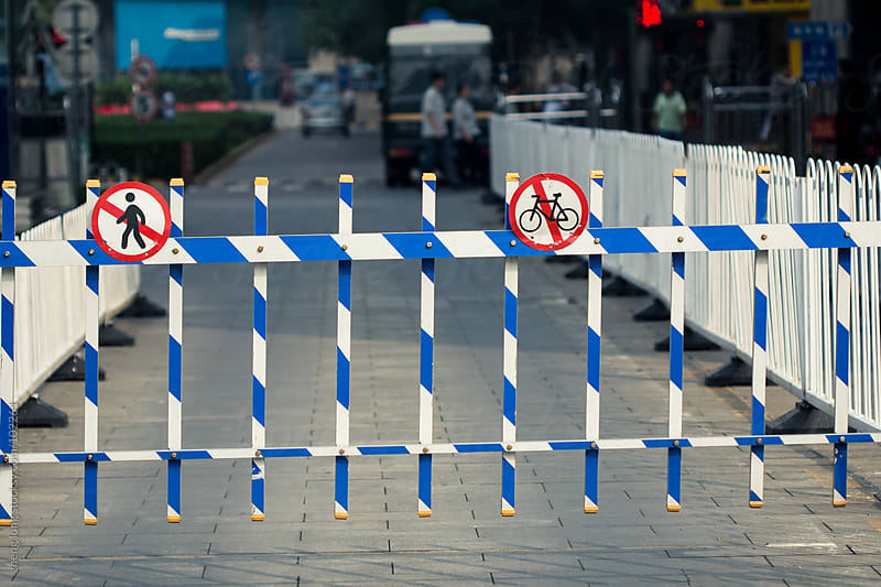 banning pedestrians by zheng long for Stocksy United