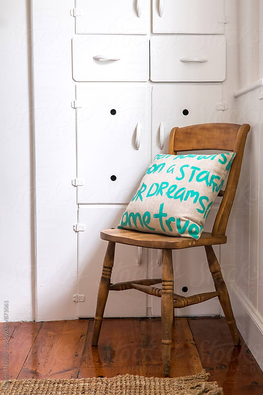 Detail of interior of coutnry cottage by Rowena Naylor for Stocksy United