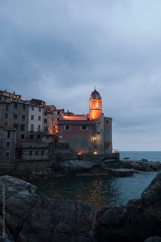 Tellaro at dusk by Anthon Jackson for Stocksy United