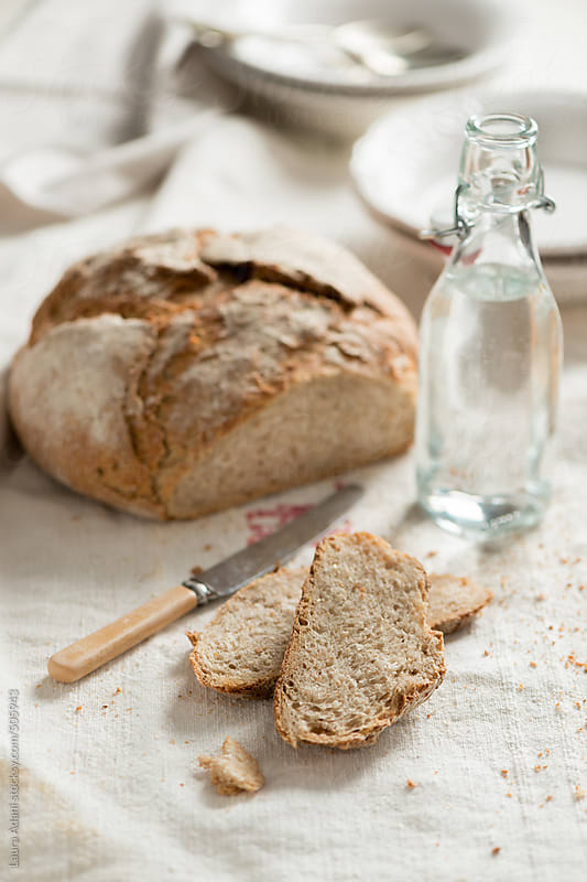 wholemeal bread (sourdough) by Laura Adani for Stocksy United