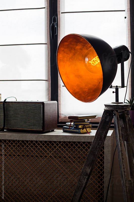 Lamp in contemporary interior by Aleksandar Novoselski for Stocksy United