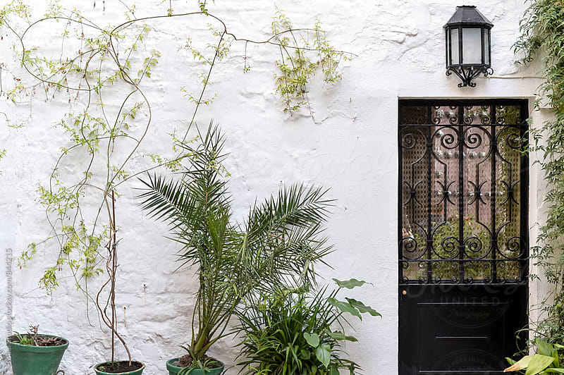 White spanish courtyard by Bisual Studio for Stocksy United