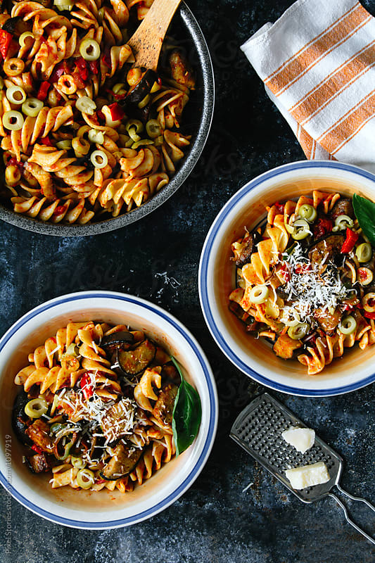 Summer pasta by Pixel Stories for Stocksy United