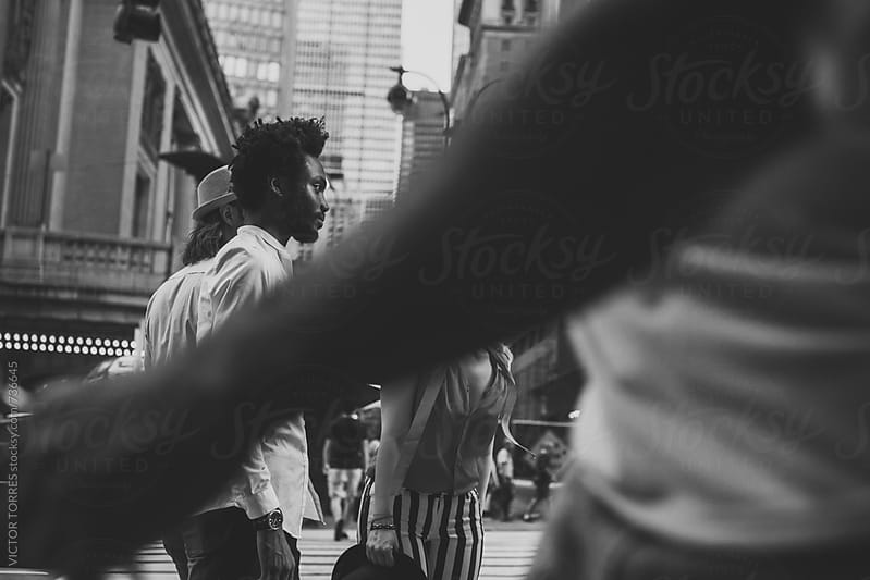 Group of Friends in the Streets of New York by Victor Torres for Stocksy United