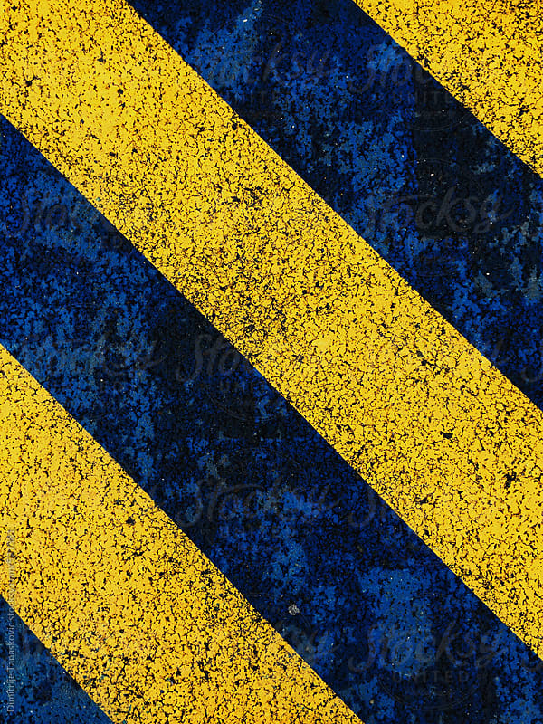 Blue and yellow stripes background by Dimitrije Tanaskovic for Stocksy United