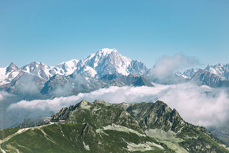 Beautiful mountains landscape. Alps, France. by BONNINSTUDIO for Stocksy United