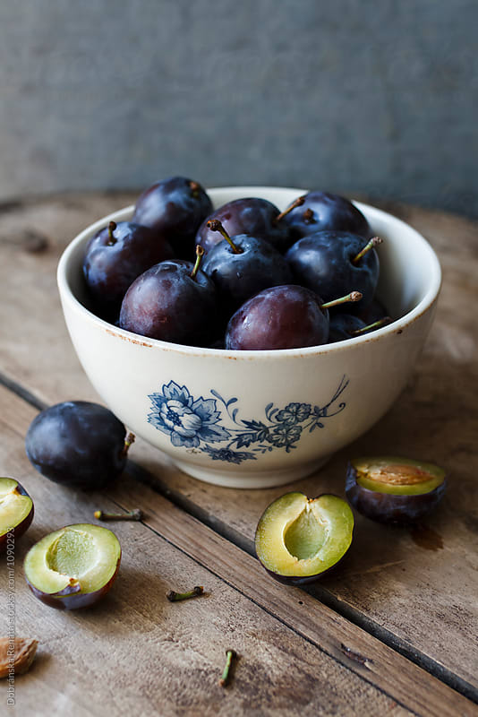 Fresh plums  by Dobránska Renáta for Stocksy United