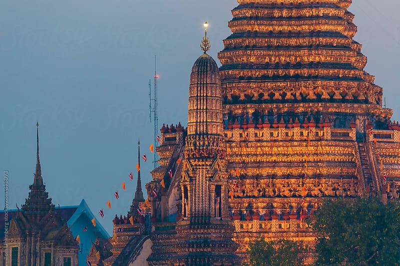 Bangkok, Thailand - Illuminated Temple of Dawn (Wat Arun) by Tom Uhlenberg for Stocksy United