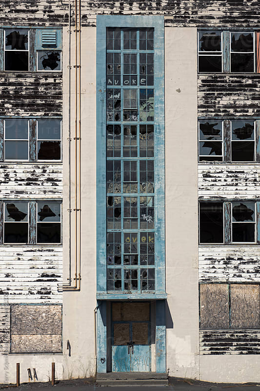 Weathered Industrial Exterior by Terry Schmidbauer for Stocksy United