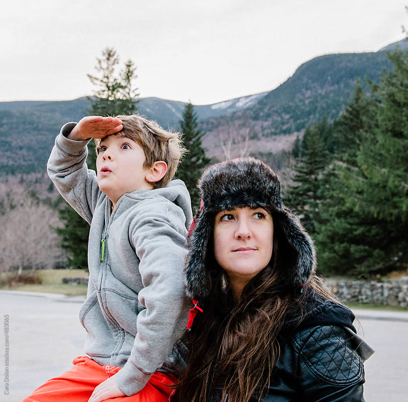 Mother and son are ready for a wilderness adventure by Cara Dolan for Stocksy United