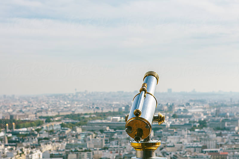 Parisian Sightseeing Telescope by Zocky for Stocksy United