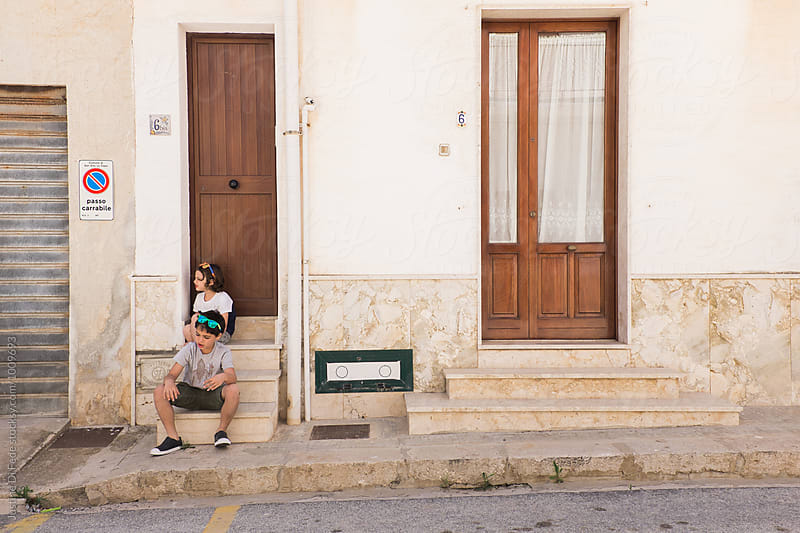 Stoop Sitting in Sicily by Justine Di Fede for Stocksy United