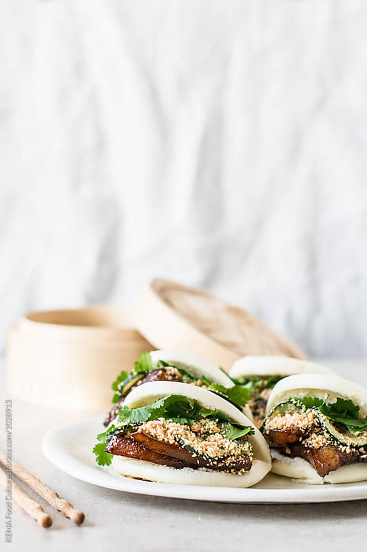 Pork belly buns  by KEMA Food Culture for Stocksy United
