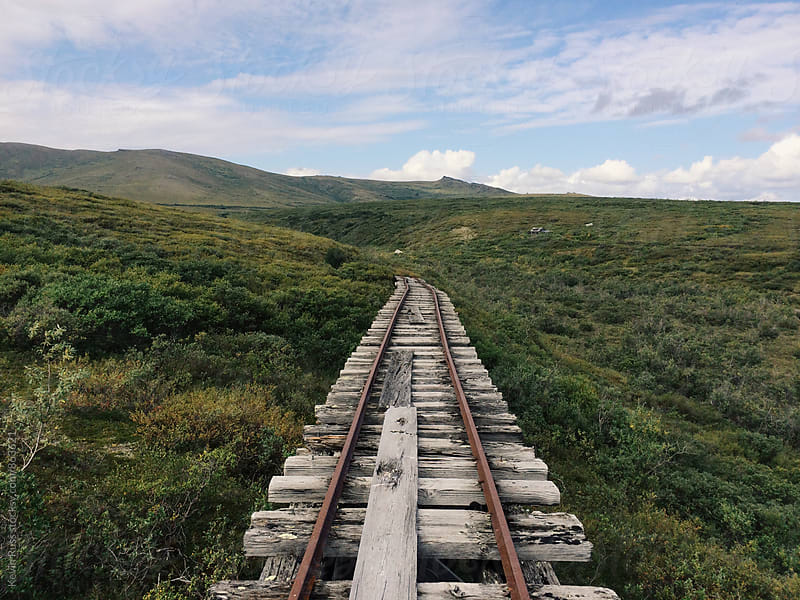 Old Railroad to Nowhere by Nature by Kevin Russ for Stocksy United