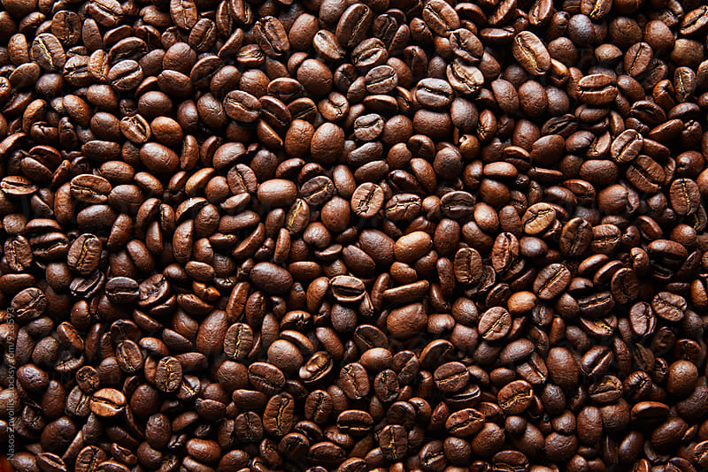 Coffee Beans Background  by Nasos Zovoilis for Stocksy United
